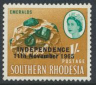 Rhodesia   SG 366 SC# 215  MH  Emeralds  OPT Independence see details