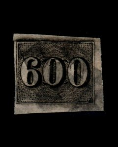 VINTAGE: BRAZIL 1849 USD,BH SCOTT # C18 $ 182 LOT# BR1891XYZ