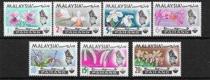 MALAYA PAHANG SG87/93 1965 ORCHIDS MTD MINT