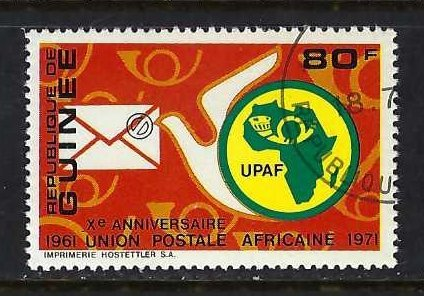 GUINEA 611 VFU MAP Z267