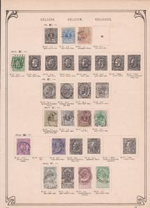 belgium  stamps collection on album pages ref r8719