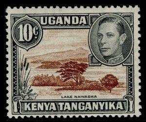KENYA UGANDA TANGANYIKA GVI SG136, 10c brown & grey, M MINT.