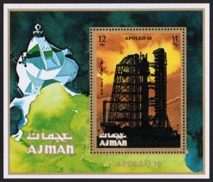 Ajman Mi Block 301A (#1020)  mnh - 1971 space - moon landing, Apollo 16 - perf