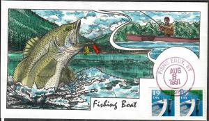 US Collins FDC SC#2529 Fishing Boat