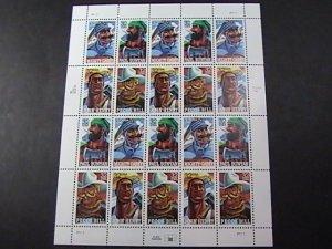 U.S.# 3083-3086(3086a)-MINT NEVER/HINGED--PANE OF 20--FOLK HEROES--1996