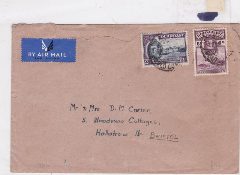 gold coast 1950 stamp cover Ref 8445