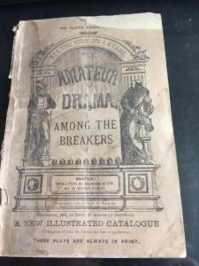 All The World's A Stage - Amateur Drama - Copyright 1893 and 1927 - Used Wear