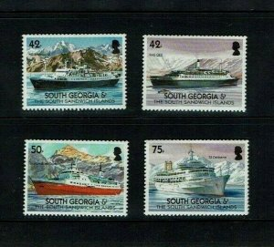 South Georgia, 2004 Merchant Ships, Cruise Liners,  MNH set.