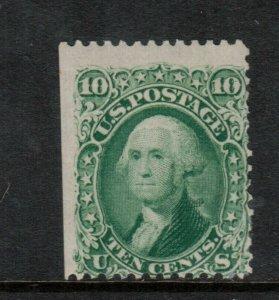 USA #68 Mint Fine Original Gum - Straight Edge At Left - Small Part Album Adhere