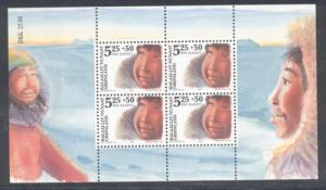 Greenland Sc B30a 2005 Children stamp sheet mint NH