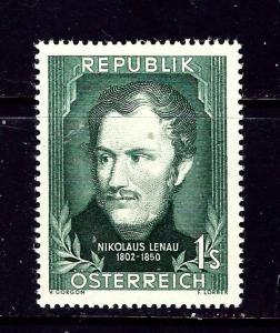 Austria 582 MH 1952 Nilolaus Lenau