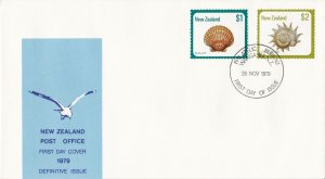 NZFD904) NZ 1979 Bird cachet FDC. Bearing $1 Scallop and $2 Circular Saw