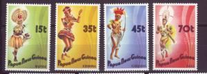J18768  jlstamps 1986 p.n.g. mnh set #655-8 dancers