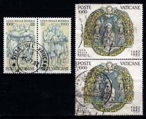 Vatican City 1982 500th Death Anniv of Luca della Robbia, Pairs Part Set [Used]