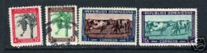 969B DOMINICAN REP. DOMINICANA 389-392 VFU COWS