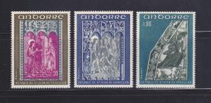 Andorra French 214-216 Set MNH Art (B)