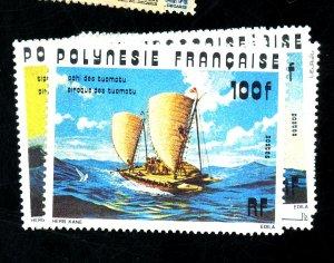 FRENCH POYNESIA #288 292-5 MINT FVF OG HR Cat $43