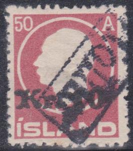 Iceland - Sc. #140 - 1925 10K ib 50a Revenue Cancel Used