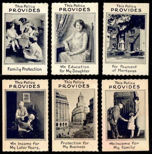 Insurance - 6 Generic Advertising Poster Stamps
