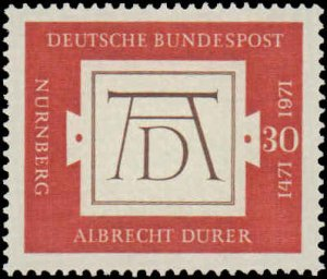1971 Germany #1070, Complete Set, Never Hinged