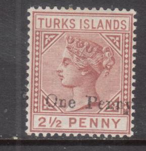 Turks Islands #55 Mint Fine Lightly Hinged