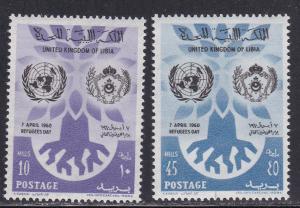 Libya # 187-188, World Refugee Year, Mint NH