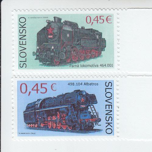 2015 Slovakia Steam Locomotives (2) (Scott 713-14) MNH