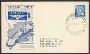 NEW ZEALAND 1959 first flight cover  Christchurch to Wellington............58169