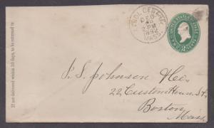 **US 19th Century P/S Cover, Athol Centre, MA,12/29/1892 CDS, DPO2