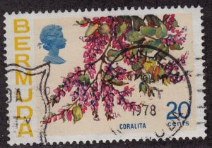 BERMUDA Used Scott # 323 Flowers - pencil # (1 Stamp) -3