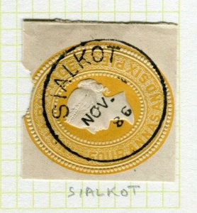 INDIA; POSTMARK fine used cancel on QV issue, Sialkot PIECE