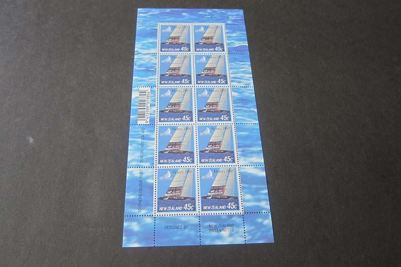 New Zealand S/S 1995 SC 1227 Ship sheet of 10 MNH