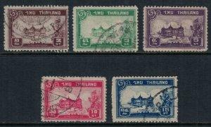 Thailand #238-42  CV $5.50