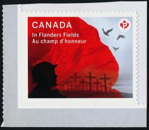 Canada 2836 MNH In Flanders Fields, WWI, Birds, Flowers, Military