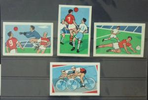 Match Box Labels ! sport football players ball cycling GN105