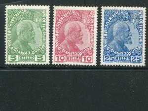 Liechtenstein #1-3 Mint VF -  LSP