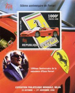 SENEGAL Ferrari S/S MNH Scott 1345 Cars 1998 perf.