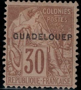 Guadeloupe 1891 SC 22f Mint SCV $200.00