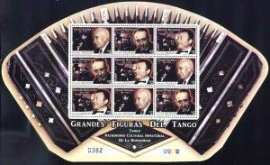URUGUAY 2011 MUSIC TANGO WORLD PATRIMONIUM HERITAGE MINISHEET YV 2528-30 MNH