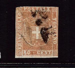 TUSCANY  1860  80c  PALE RED BROWN  FU     SG 50  Sc 22