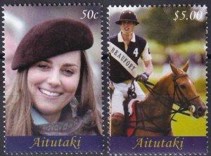 Aitutaki #562-3  MNH CV $8.50 (Z5625)