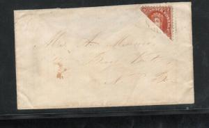 New Brunswick #9a Very Fine Used Rare Bisect On Cover To Baie Verte *With Cert.*