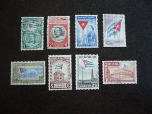 Stamps - Cuba - Scott# 458-461,C41-C43,E13 - Used Set of 8 Stamps