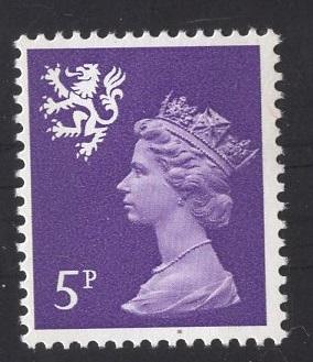 Great Britain Scotland  #SMH5  5p   MNH Q E II   Machin