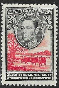 BECHUANALAND SG126 1938 2/6 BLACK & SCARLET MTD MINT