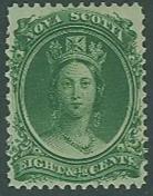 Nova Scotia  SC# 11 Queen Victoria, 8-1/2 Cents, MH,