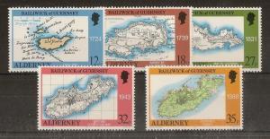 Alderney 1989 Survey SG.A37-A40 MNH