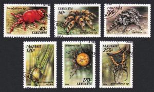 Tanzania Arachnids 6v CTO SG#1830-1835 SC#1235-1240 MI#1798-8041+Block 255