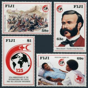 Fiji 599-602,MNH.Michel 594-597. Red Cross/Red Crescent,125,1989.Henri Dunant.