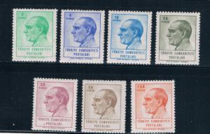 Turkey 1650-56 MNH set Kermal Ataturk (T0060)